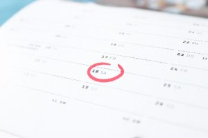 A calendar showing when to move in order to dduct moving expenses