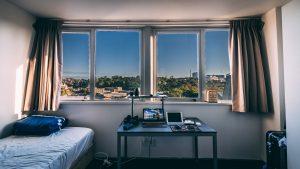 a college dorm room
