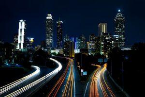 Atlanta at night.