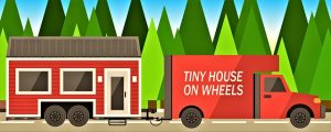 Move into a micro home and transporting home.