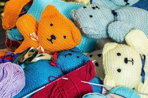 Knitted little bears.