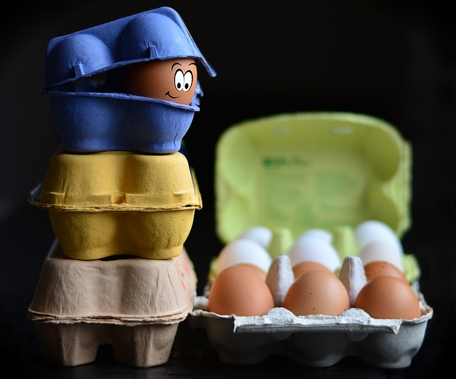Eggs in a carton symbolizing careful packing.
