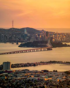 Beautiful skyline in Oakland, Alameda County