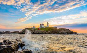 The famous York, Maine lighthouse.