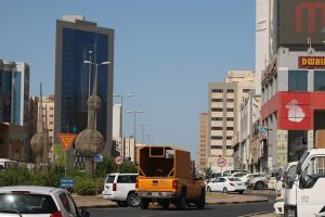 Kuwait streets and buildings.