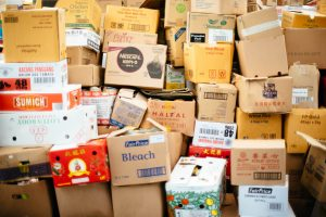 Stored cardboard boxes. You'll need to obtain these before the relocation to the West Coast.